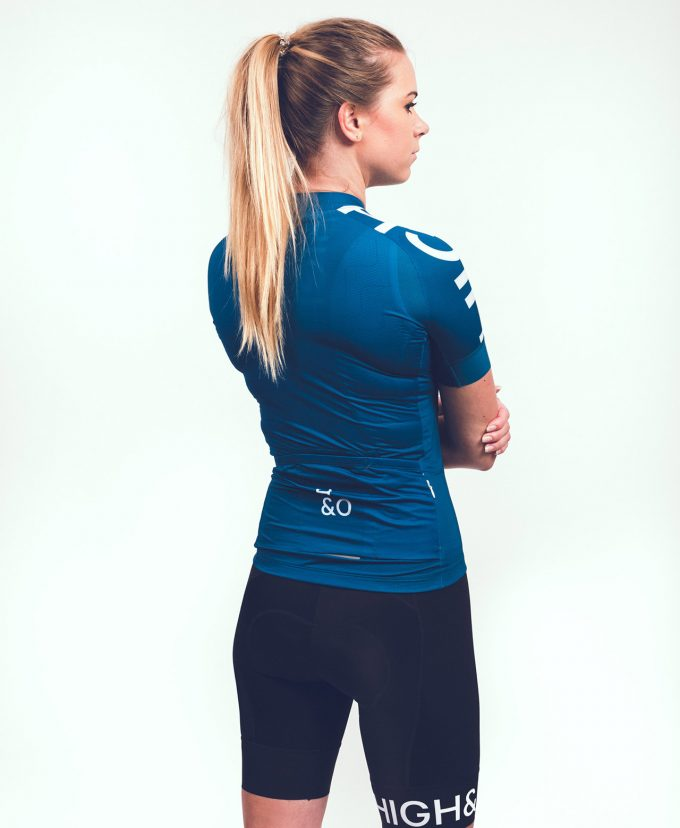 HIGH&OVER baltic blue cycling jersey