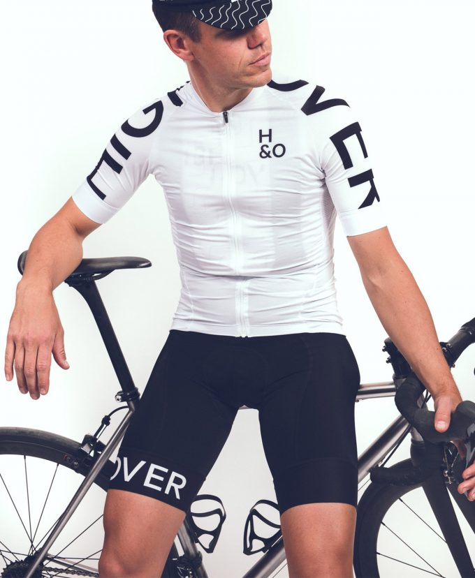HIGH&OVER padded cycling bib shorts
