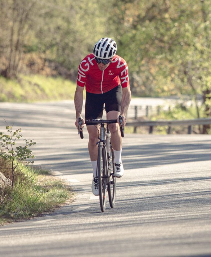 HIGH&OVER falu red cycling jersey