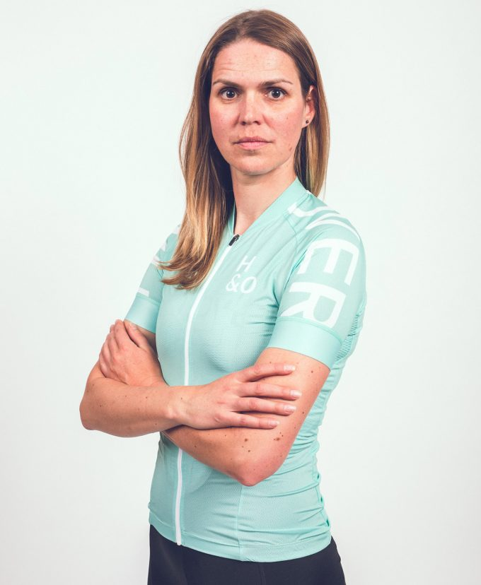 HIGH&OVER copper green cycling jersey