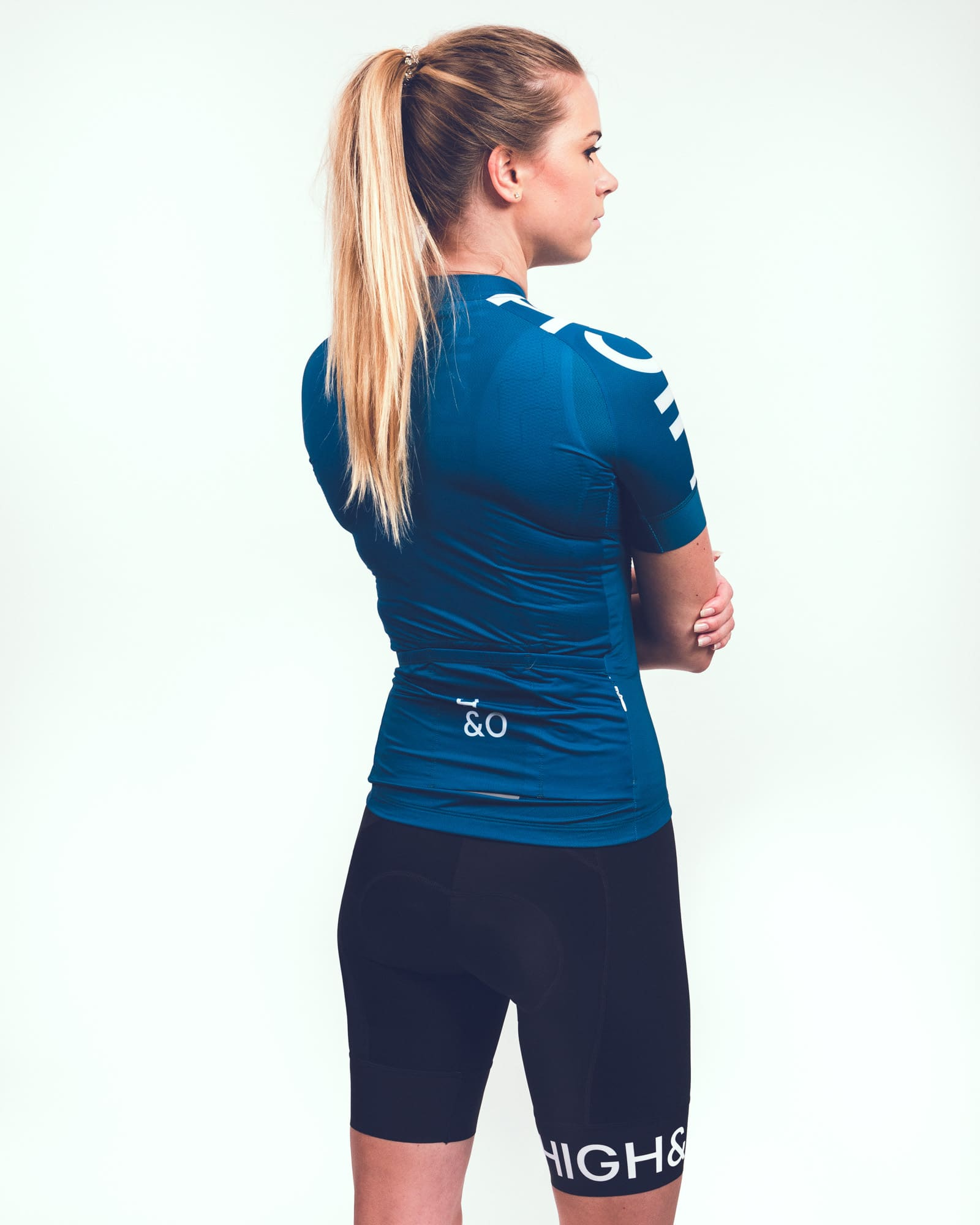 HIGH and OVER baltic blue cycling jersey