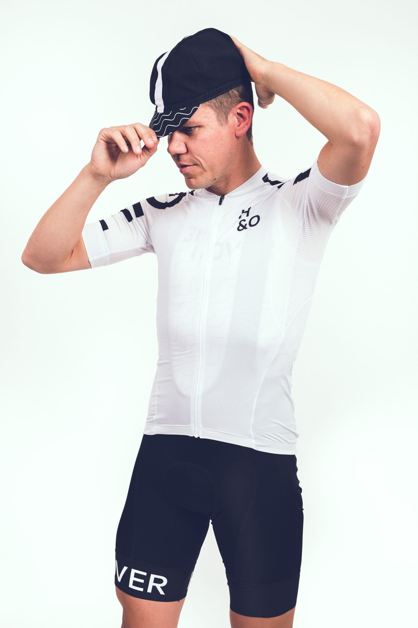 HIGH&OVER snow white cycling jersey
