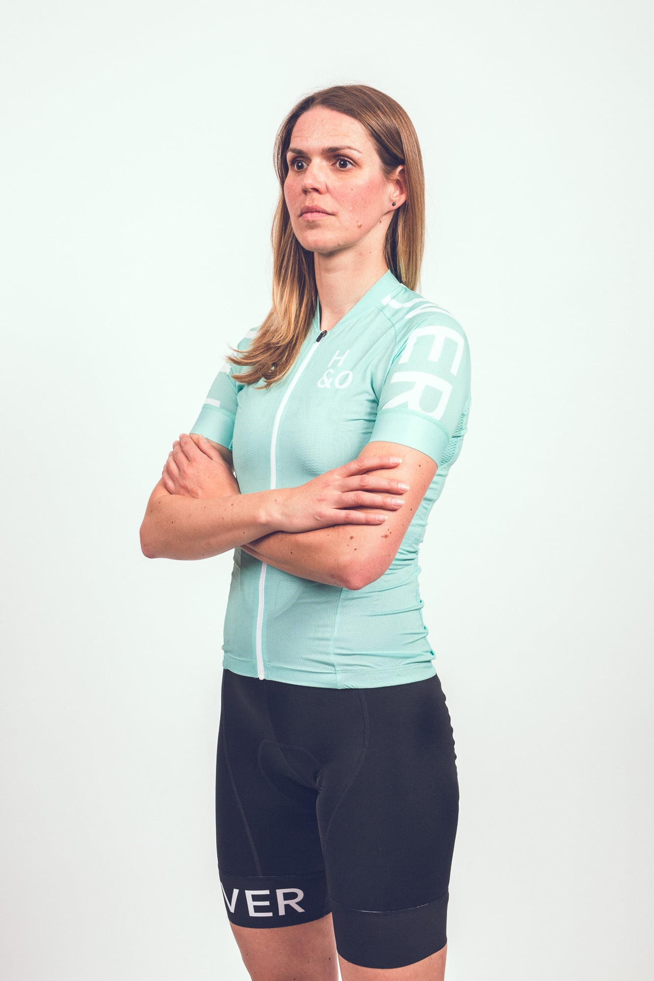 HIGH and OVER copper women cycling jersey
