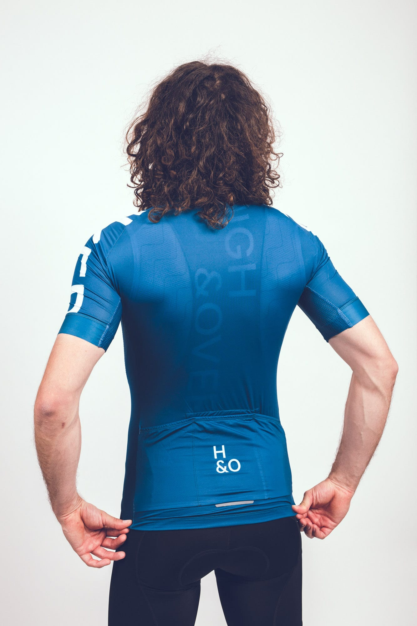 HIGH&OVER mens baltic blue cycling jersey