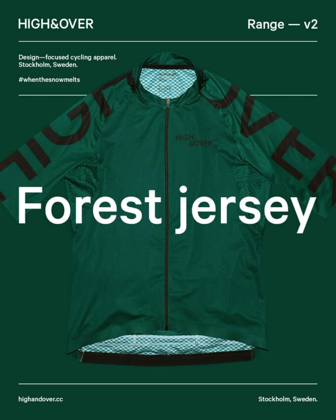 Forest green cycling jersey