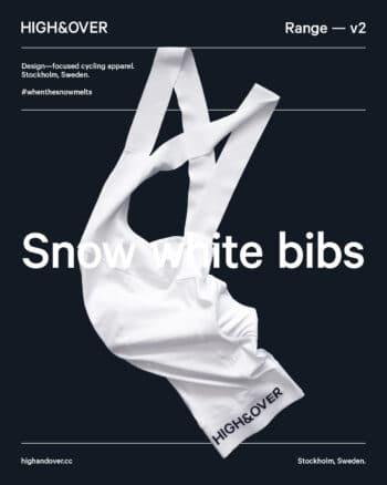 Snow white bib shorts